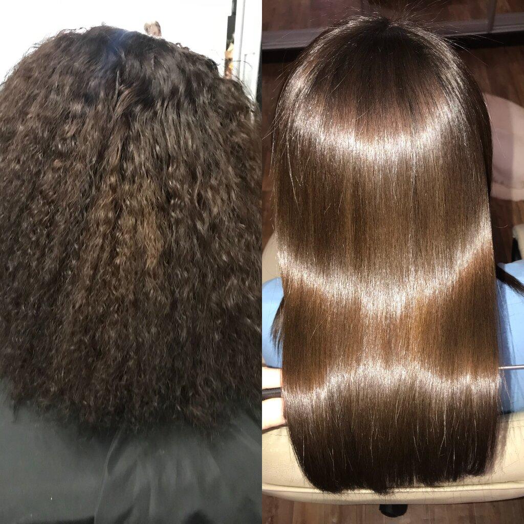 Картинки до и после кератинового выпрямления