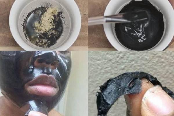 Маска из активированного угля и желатина для очищения пор (рецепт)
