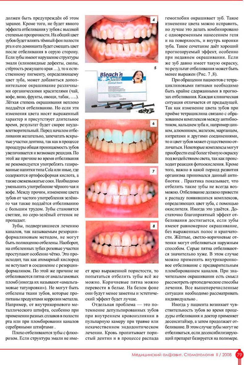 Диета после отбеливания зубов