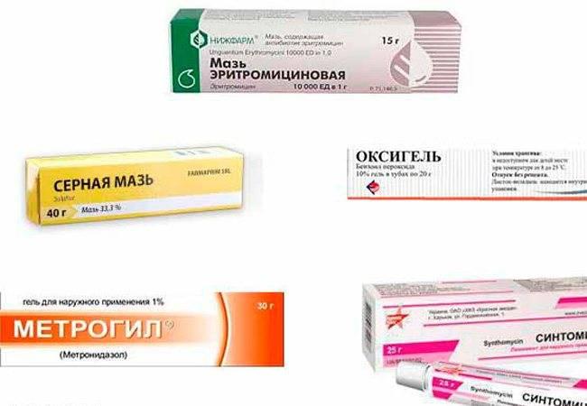 Гели и таблетки с антибиотиком от прыщей на лице