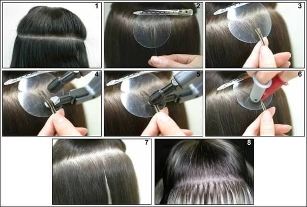 Новые технологии бескапсульного наращивания волос