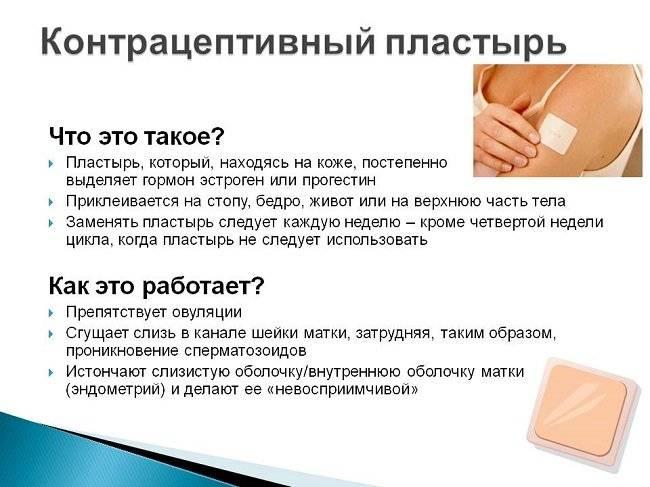 Противозачаточный пластырь как средство контрацепции