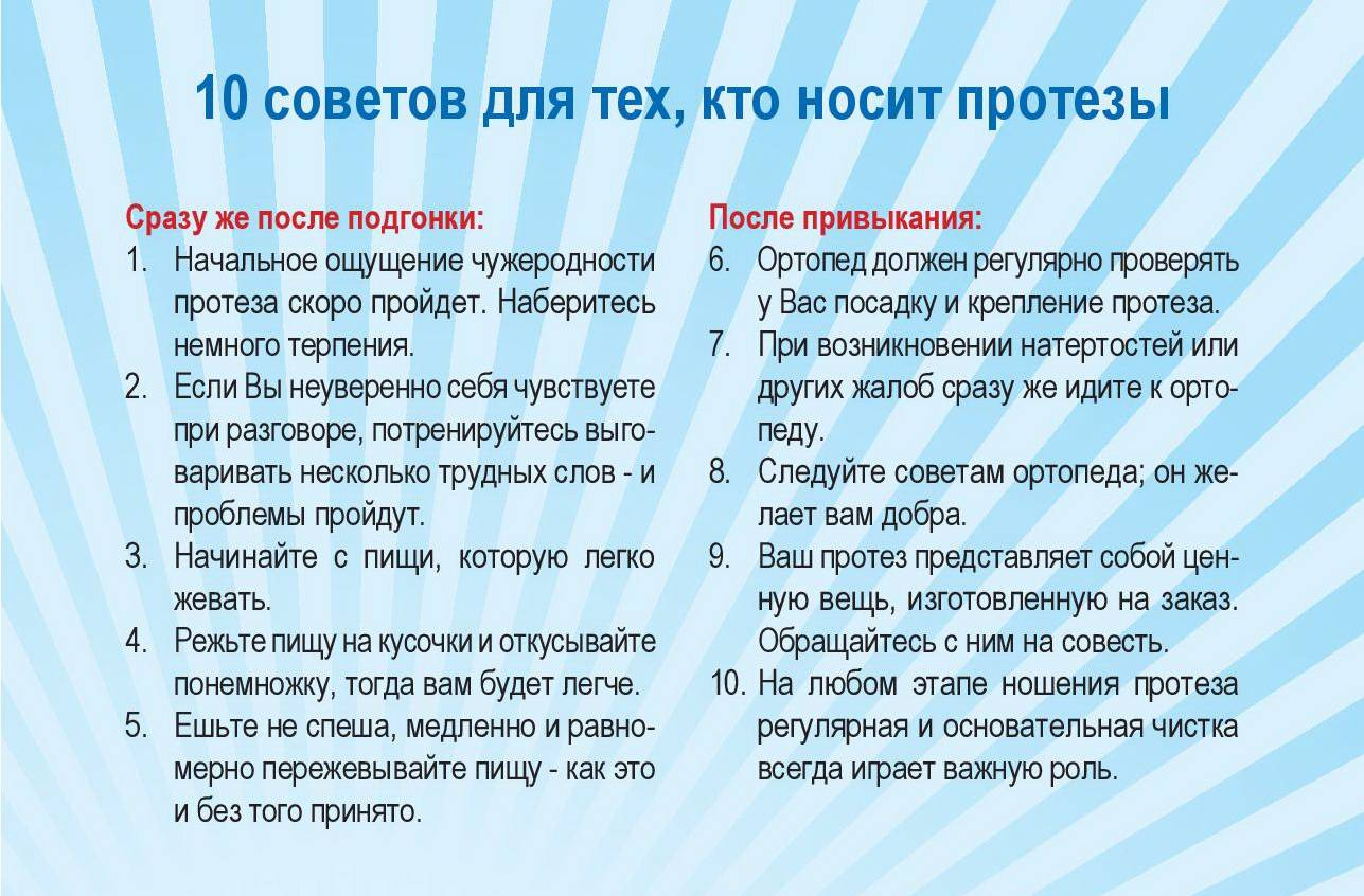 Хранение зубных протезов