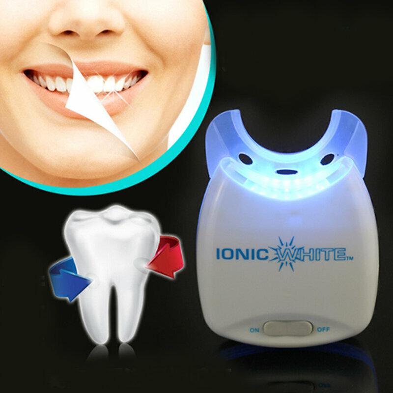 Ослепительная улыбка с домашней системой для отбеливания зубов white light