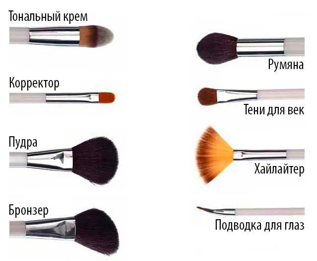 Список и описание инструментов, необходимых для создания идеального макияжа