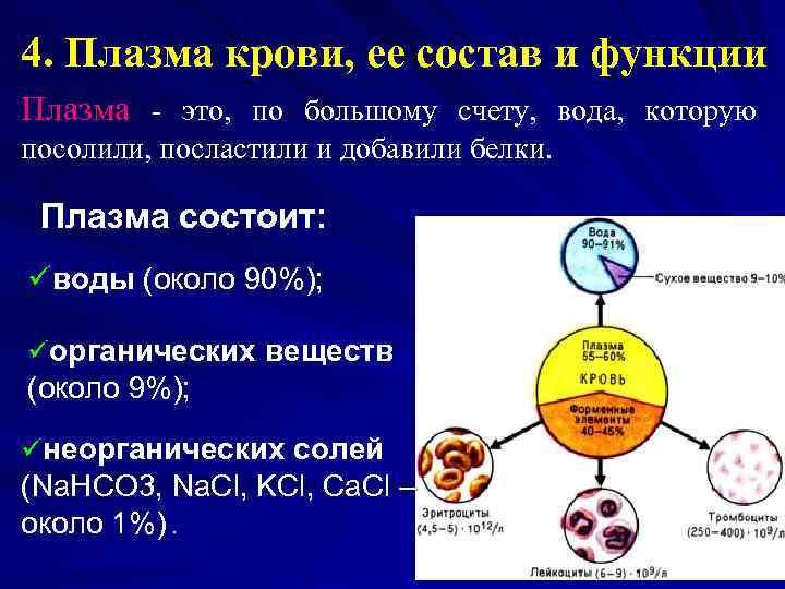 Содержание общего белка в плазме крови составляет. нарушение белкового состава плазмы крови