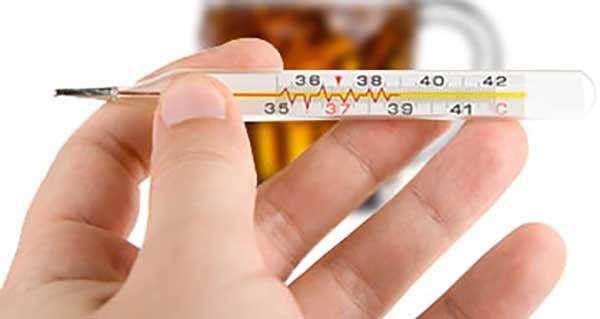 алкоголь и температура