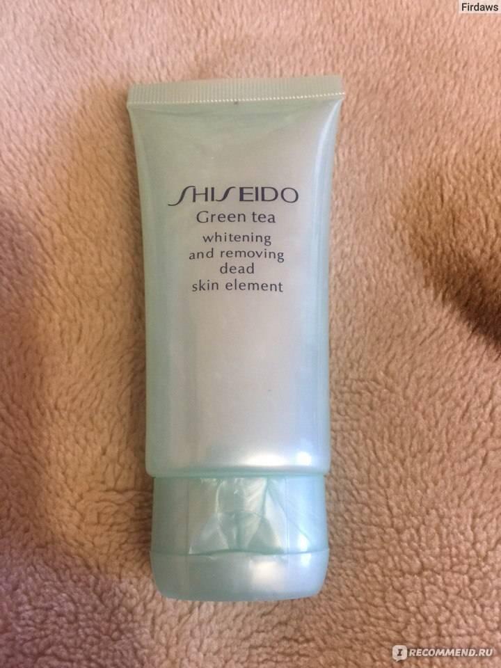 Пилинг shiseido «green tea». современная версия