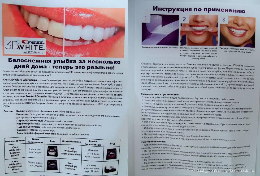 Боль после отбеливания зубов
