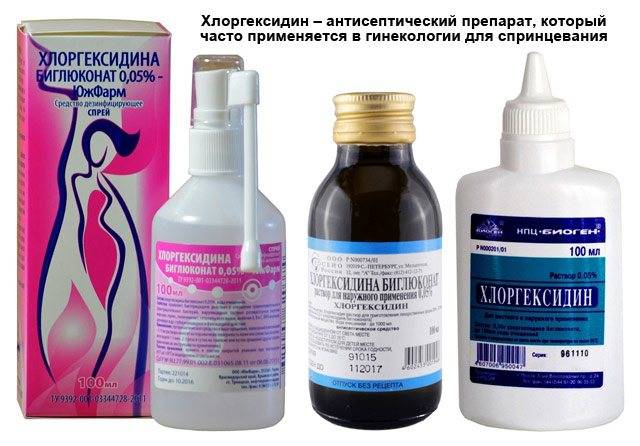 Свечи с хлоргексидином в гинекологии