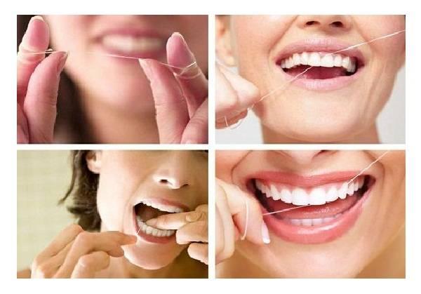 Зубная нить застряла между зубов что делать