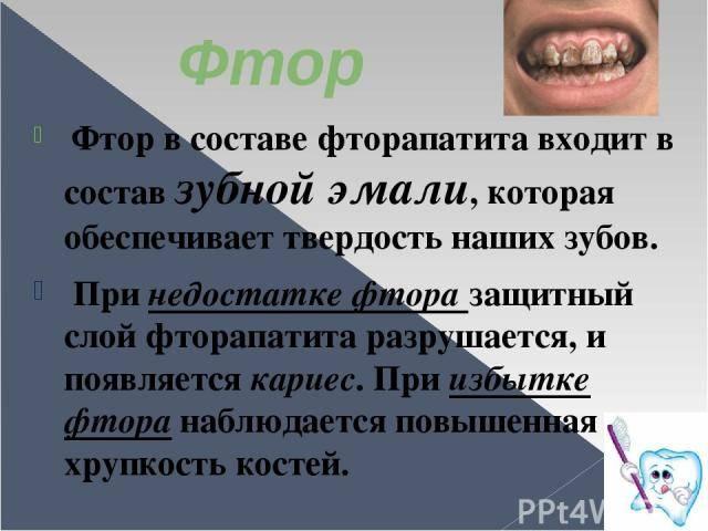 Фтор в зубной пасте польза и вред