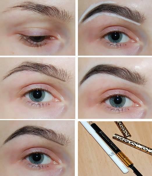 Пошаговая инструкция, как правильно красить брови