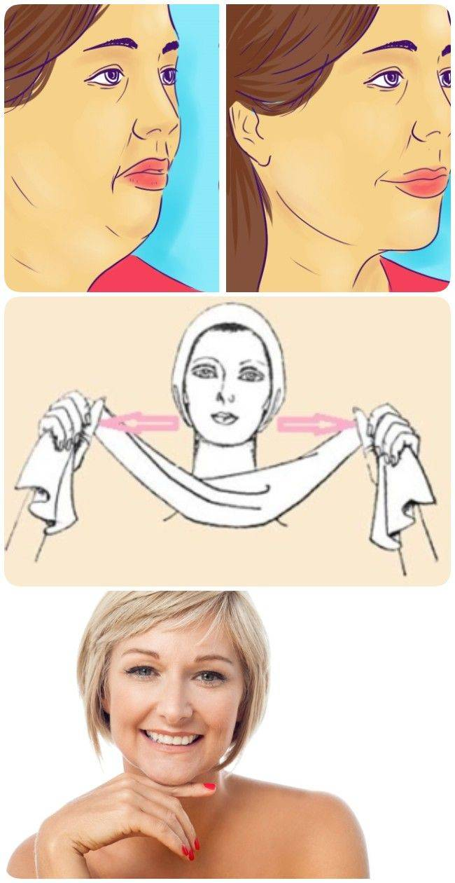 Простые упражнения от второго подбородка, подтяжки шеи и овала лица