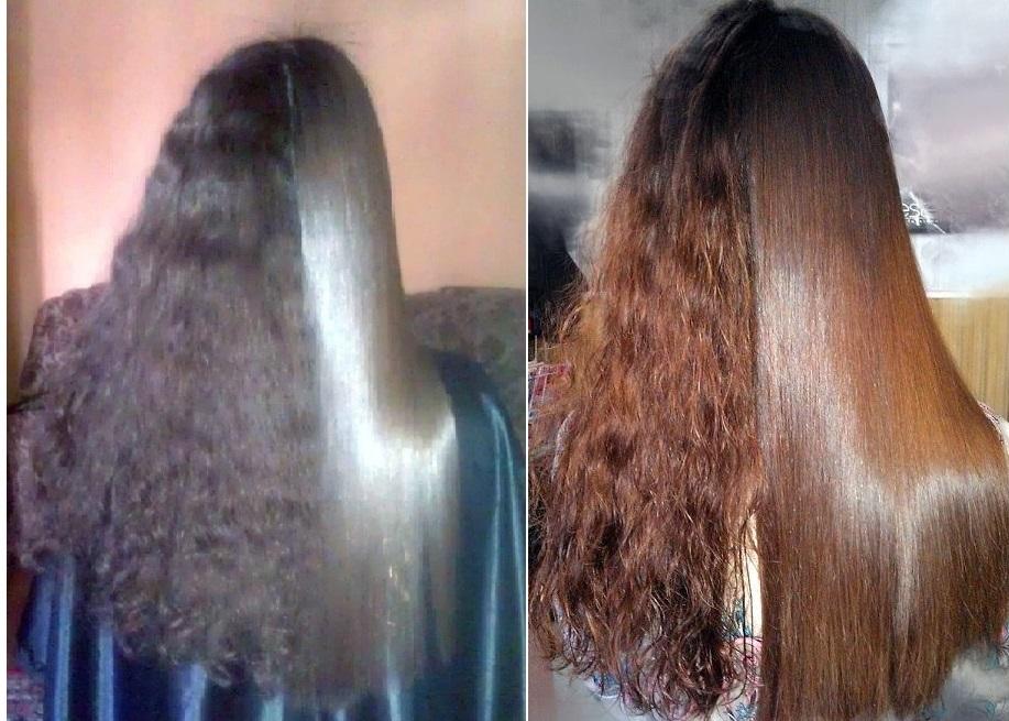 Кератиновое выпрямление волос дома: профессиональные средства и народные рецепты