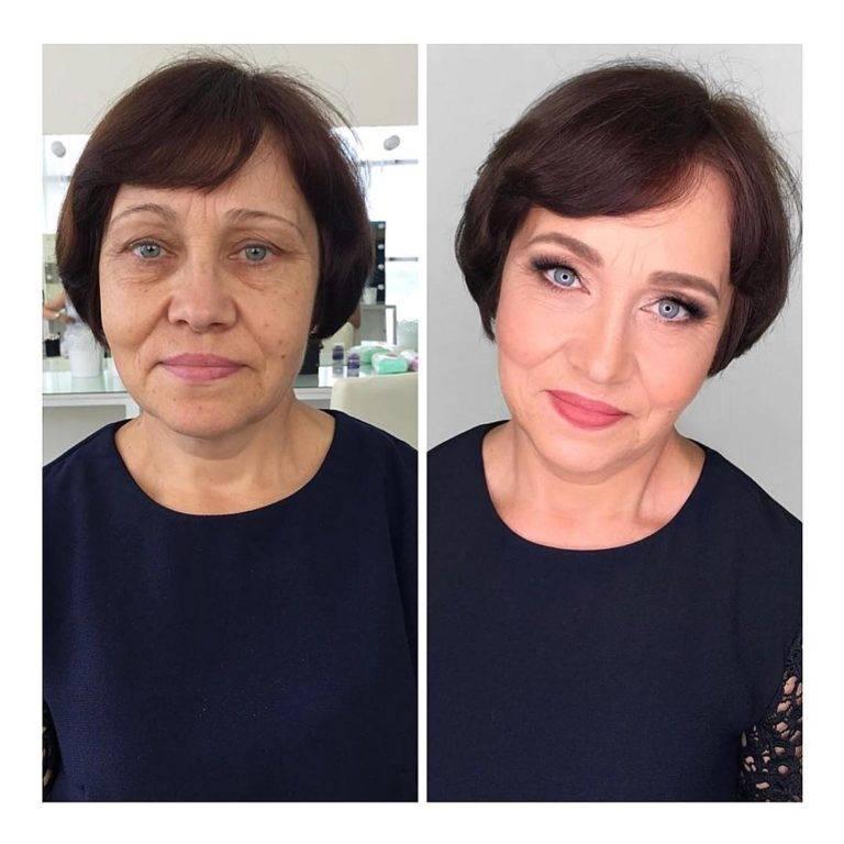 Особенности возрастного макияжа 50+ – поэтапные фото- и видеоуроки макияжа женщин после 50-ти