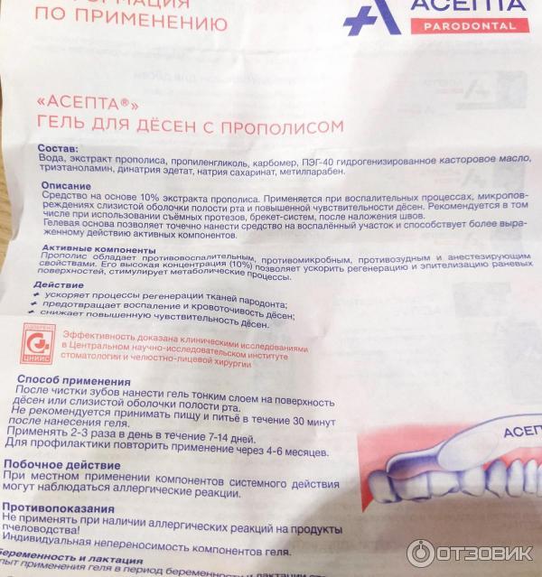 Асепта гель для десен: лучшее российское средство с мгновенным действием!