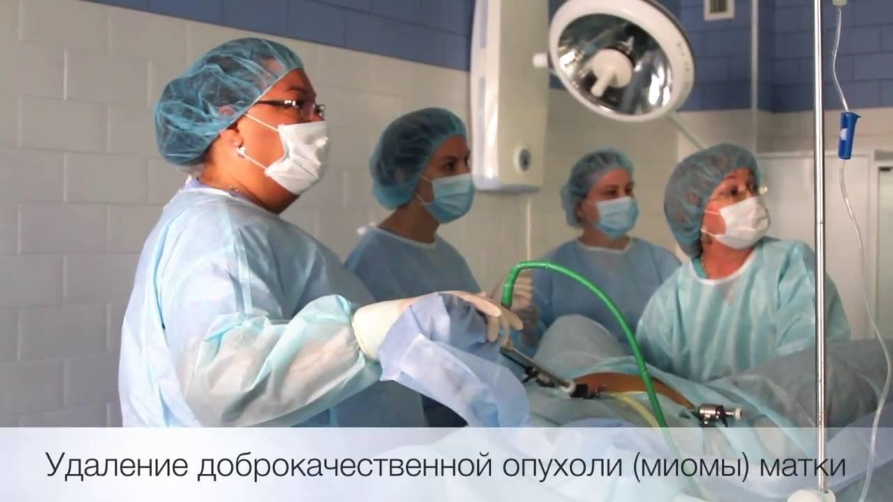 Лапароскопия и эма при миоме матки больших размеров