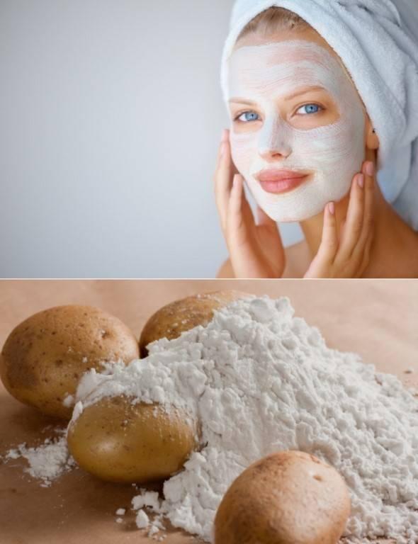Используем крахмал вместо ботокса от морщин в домашних масках для лица