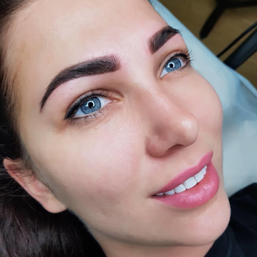 Перманентный макияж бровей, губ и глаз. 180 фотографий постоянного мейкапа.