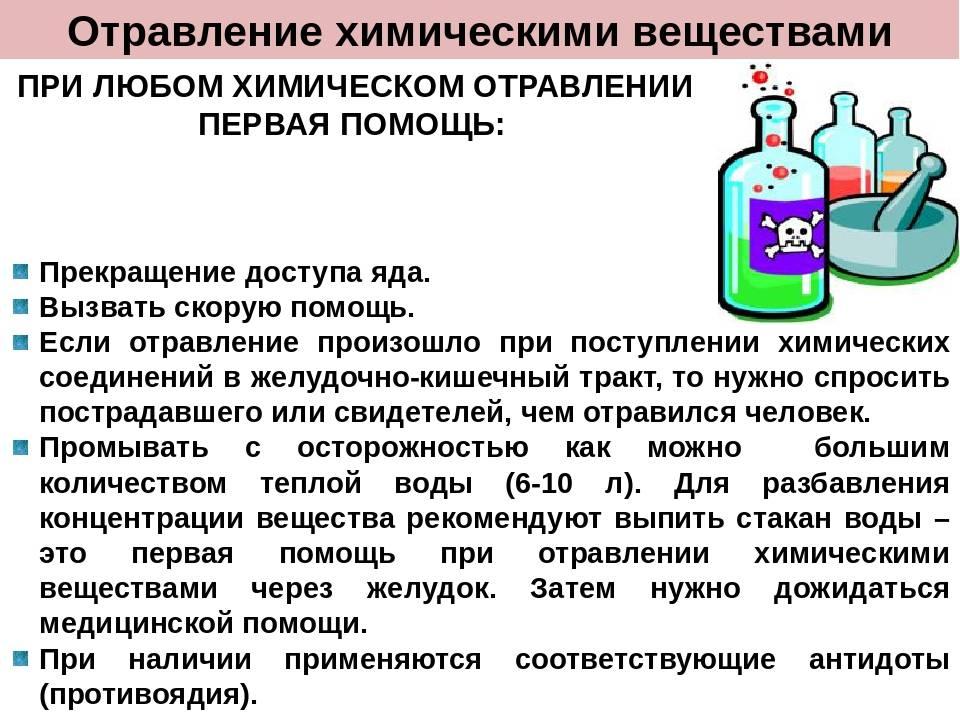Первая помощь при токсическом отравлении
