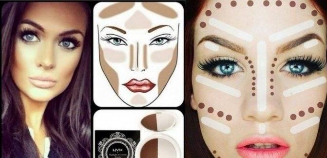 Скульптурирование лица косметикой: фото, видео-уроки