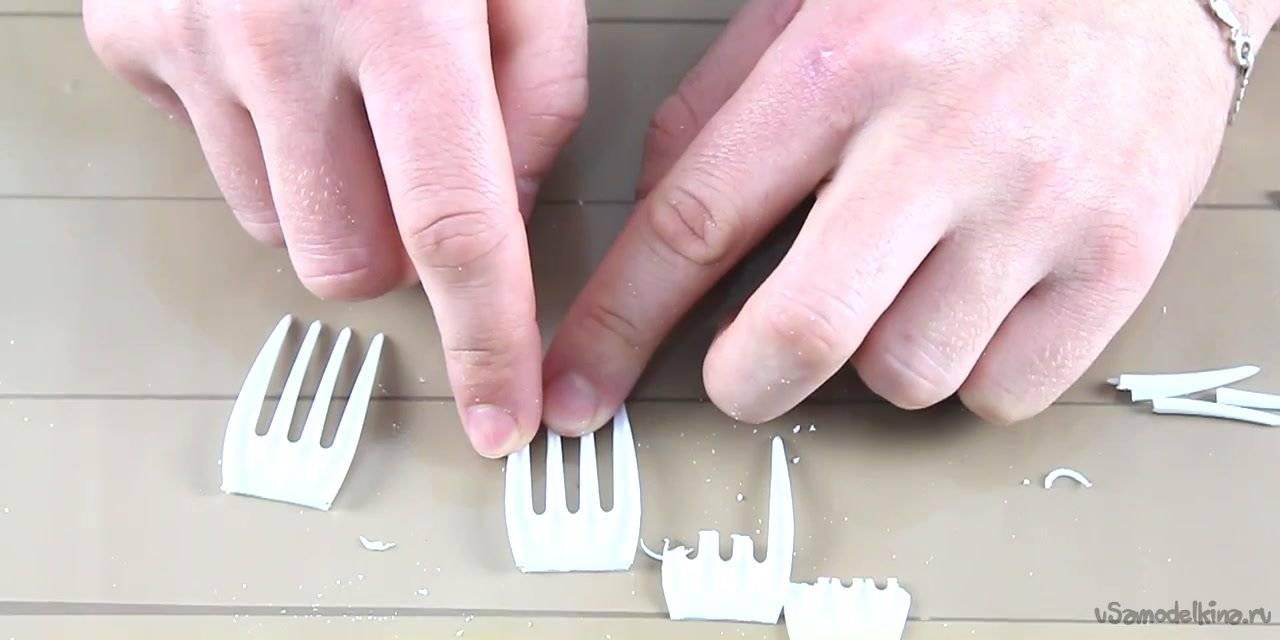 Как сделать зубы из бумаги? как сделать вампирские клыки из бумаги.