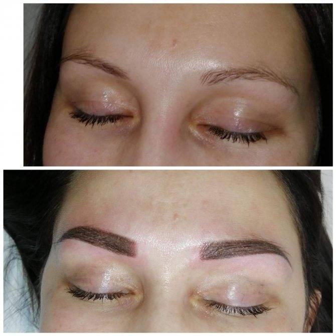 Уход за перманентным макияжем бровей