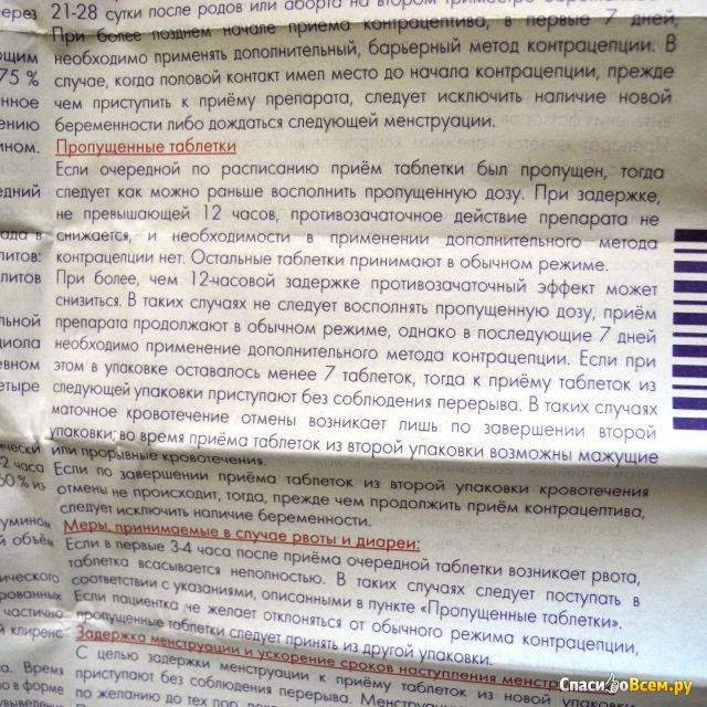Задержка месячных после отмены противозачаточных таблеток ярина