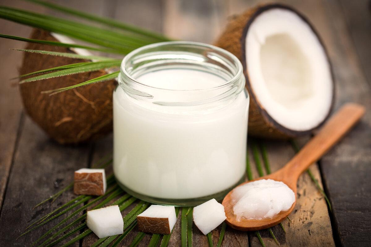 Кокосовое масло для ухода за лицом, телом, ногтями и волосами