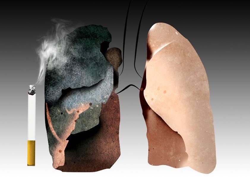 Почему когда куришь щиплет язык