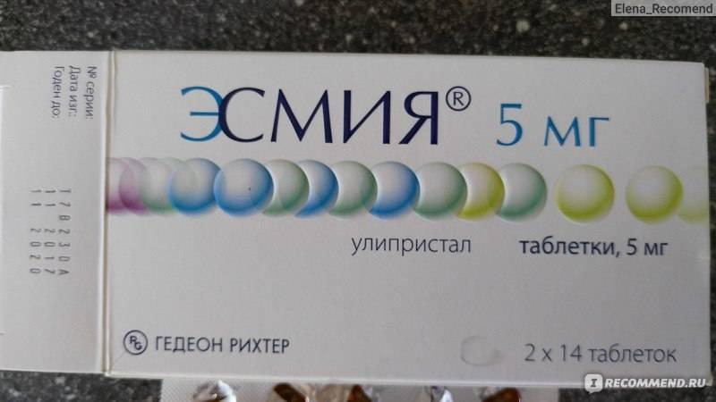 Эсмия: действие препарата, побочные эффекты, эффективность терапии, противопоказания