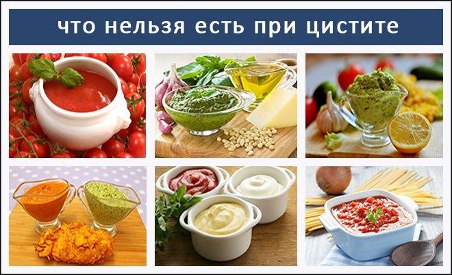 Какие продукты нельзя кушать при цистите?
