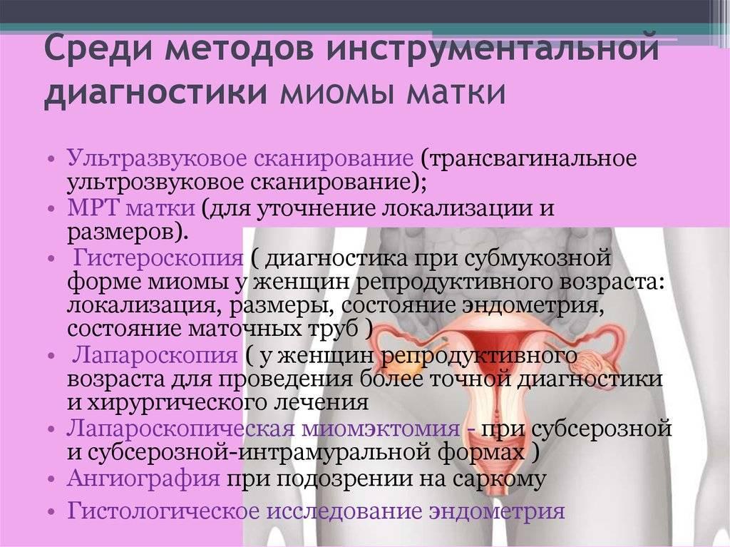 Симптомы миомы матки ранних стадиях