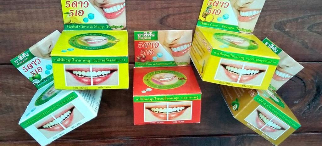 Полезные сведения о популярных видах зубной пасты из таиланда