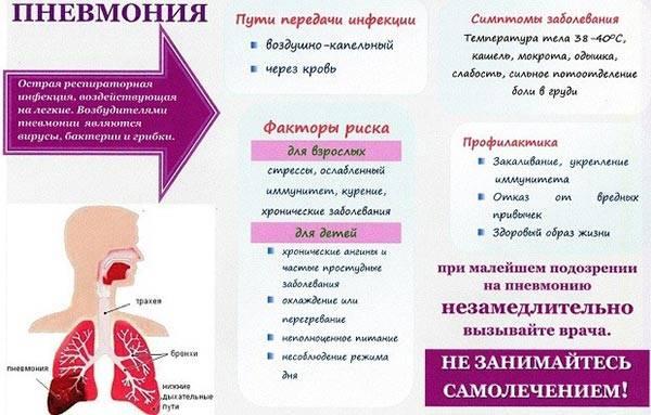 общая информация о пневмонии
